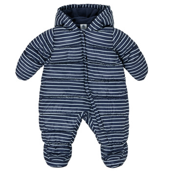 Kleidung Jungen Daunenjacken Petit Bateau TECHA Blau / Weiss
