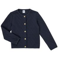 Kleidung Mädchen Strickjacken Petit Bateau COLYNNE Blau