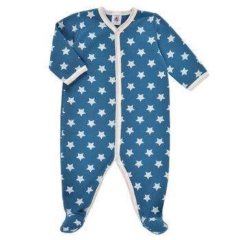 Kleidung Jungen Pyjamas/ Nachthemden Petit Bateau SOLARIE Blau / Weiss