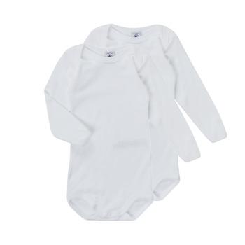 Kleidung Kinder Pyjamas/ Nachthemden Petit Bateau TESSA Weiss