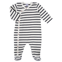 Kleidung Kinder Pyjamas/ Nachthemden Petit Bateau ONZER Weiss / Marine