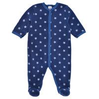 Kleidung Jungen Pyjamas/ Nachthemden Petit Bateau BENIR Blau / Weiss