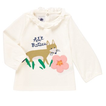 Kleidung Mädchen Langarmshirts Petit Bateau ENLEVE Weiss