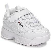 Schuhe Kinder Sneaker Low Fila DISRUPTOR INFANTS Weiss