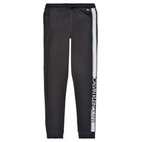 Kleidung Jungen Jogginghosen Calvin Klein Jeans RESPIRA Schwarz