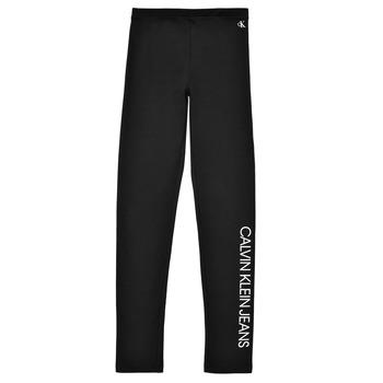 Kleidung Mädchen Leggings Calvin Klein Jeans MERCA Schwarz