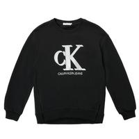 Kleidung Mädchen Sweatshirts Calvin Klein Jeans POLLI Schwarz