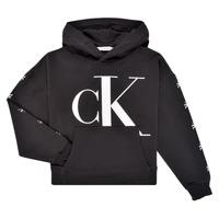 Kleidung Mädchen Sweatshirts Calvin Klein Jeans SALOMA Schwarz