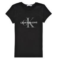 Kleidung Mädchen T-Shirts Calvin Klein Jeans VOYAT Schwarz