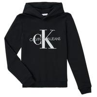 Kleidung Kinder Sweatshirts Calvin Klein Jeans TRINIDA Schwarz