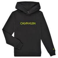 Kleidung Kinder Sweatshirts Calvin Klein Jeans ZOPLINA Schwarz