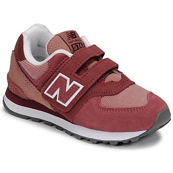 Schuhe Mädchen Sneaker Low New Balance 574 Rose