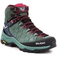 Schuhe Damen Wanderschuhe Salewa WS Alp Trainer 2 Mid Gtx Schwarz, Grün