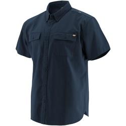 Kleidung Herren Kurzärmelige Hemden Caterpillar  Marineblau