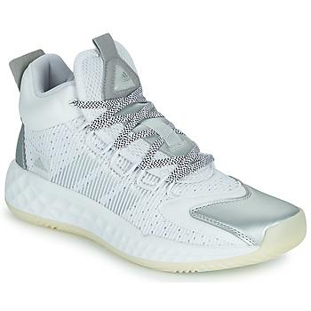 Schuhe Basketballschuhe adidas Performance PRO BOOST MID Weiss / Silbern