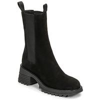Schuhe Damen Low Boots Mimmu CAMOSCIO Schwarz