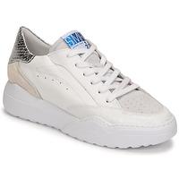 Schuhe Damen Sneaker Low Semerdjian TANY Weiss / Silbern