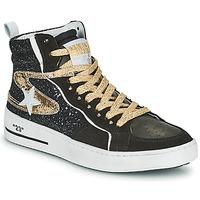 Schuhe Damen Sneaker High Semerdjian MARAL Schwarz / Gold