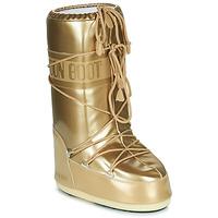 Schuhe Damen Schneestiefel Moon Boot VINILE MET Gold