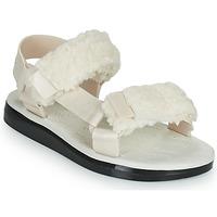 Schuhe Damen Sandalen / Sandaletten Melissa MELISSA PAPETTE FLUFFY RIDER AD Beige / Schwarz