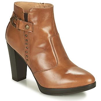 Schuhe Damen Low Boots NeroGiardini ASPERGO Cognac