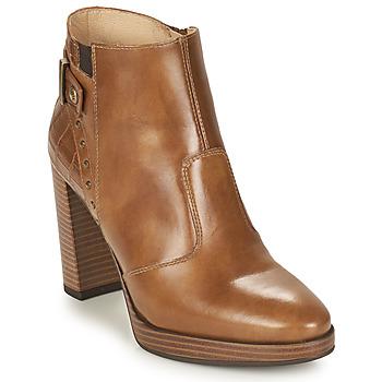 Schuhe Damen Low Boots NeroGiardini DAIKONO Cognac