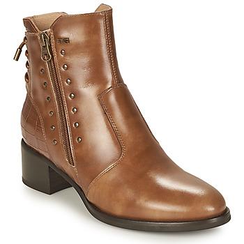 Schuhe Damen Low Boots NeroGiardini ENDIVO Cognac