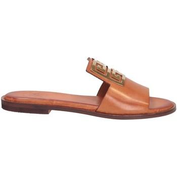 Schuhe Damen Pantoffel Tsakiris Mallas 838 IRENE 6-1 Pantoffeln Frau BRÄUNEN BRÄUNEN