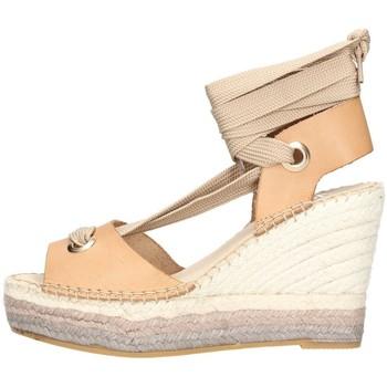 Schuhe Damen Leinen-Pantoletten mit gefloch Vidorreta 15200 Espadrilles Frau Leder Leder