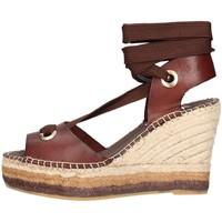 Schuhe Damen Leinen-Pantoletten mit gefloch Vidorreta 15200 Espadrilles Frau T Moro T Moro