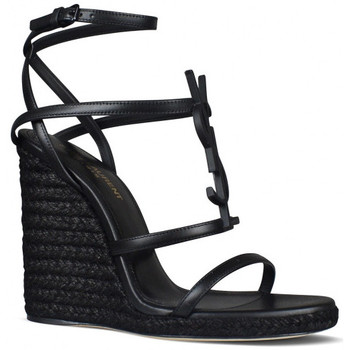 Schuhe Kinder Sandalen / Sandaletten Saint Laurent  Schwarz