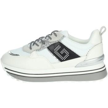Schuhe Damen Sneaker Low Gold & Gold GB36 Weiss/Schwarz