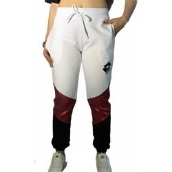 Kleidung Damen Jogginghosen Lotto LTD447 Weiss/Fuchsia