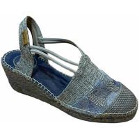 Schuhe Damen Leinen-Pantoletten mit gefloch Toni Pons TOPTOURSAazz blu