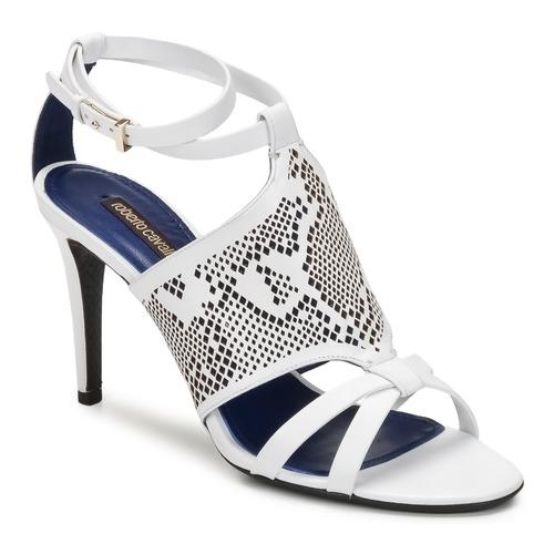 Schuhe Damen Sandalen / Sandaletten Roberto Cavalli TPS016 Weiss