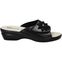 Schuhe Damen Pantoffel Susimoda 1699 Schwarz