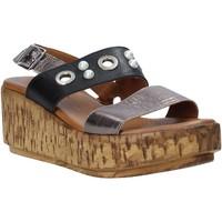 Schuhe Damen Sandalen / Sandaletten Melluso HK55056F Grau