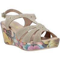Schuhe Damen Sandalen / Sandaletten Melluso H037040 Beige
