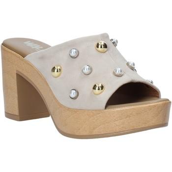 Schuhe Damen Pantoffel Melluso HR80101 Grau