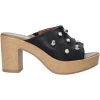 Schuhe Damen Pantoletten Melluso HR80101 Schwarz