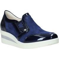 Schuhe Damen Slipper Melluso HR20109 Blau