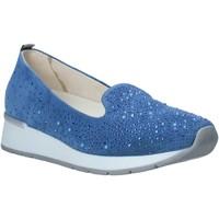 Schuhe Damen Slipper Melluso HR20021 Blau