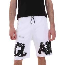 Kleidung Herren Shorts / Bermudas Disclaimer 21EDS50615 Weiß