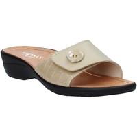 Schuhe Damen Pantoffel Susimoda 1651 Beige