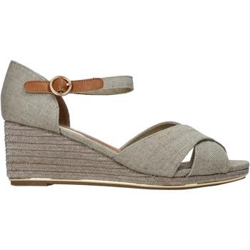 Schuhe Damen Leinen-Pantoletten mit gefloch Wrangler WL11660A Beige