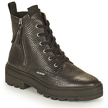 Schuhe Damen Boots Palladium Manufacture CULT 04 NAP Schwarz