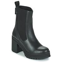 Schuhe Damen Low Boots Palladium Manufacture MONA 02 NAP Schwarz