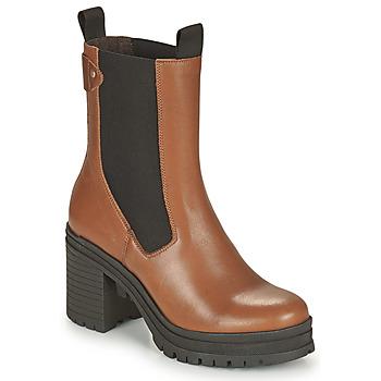 Schuhe Damen Low Boots Palladium Manufacture MONA 02 NAP Braun