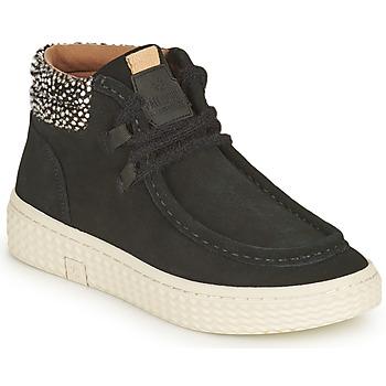 Schuhe Damen Sneaker High Palladium Manufacture TEMPO 10 SUD Schwarz