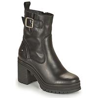 Schuhe Damen Low Boots Palladium Manufacture MONA 01 NAP Schwarz